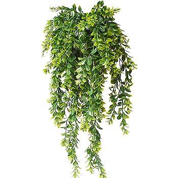 VORCOOL 85CM Plantas Artificiales Colgante Vides Plantas Falsas Decoraci/ón para Pared Jard/ín Casa Boda Amarillo