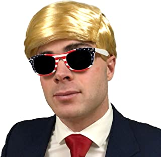 3 pc. Donald Trump Wig & USA Sunglasses