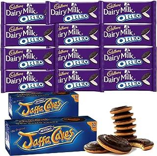 McVities Jaffa Cakes Two Boxes + Cadbury Dairy Milk Oreo   Total 12 bars of British Chocolate Candy - Cadbury Dairy Milk Oreo