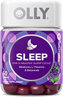 OLLY Sleep Melatonin Gummy, All Natural Flavor and Colors with L Theanine, Chamomile, and Lemon Balm, 3 mg per Serving, 25...