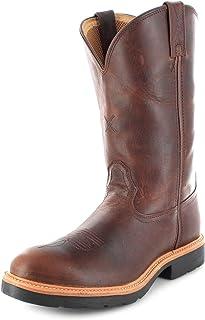 Twisted X Boots Botas de vaquero unisex de piel marrón