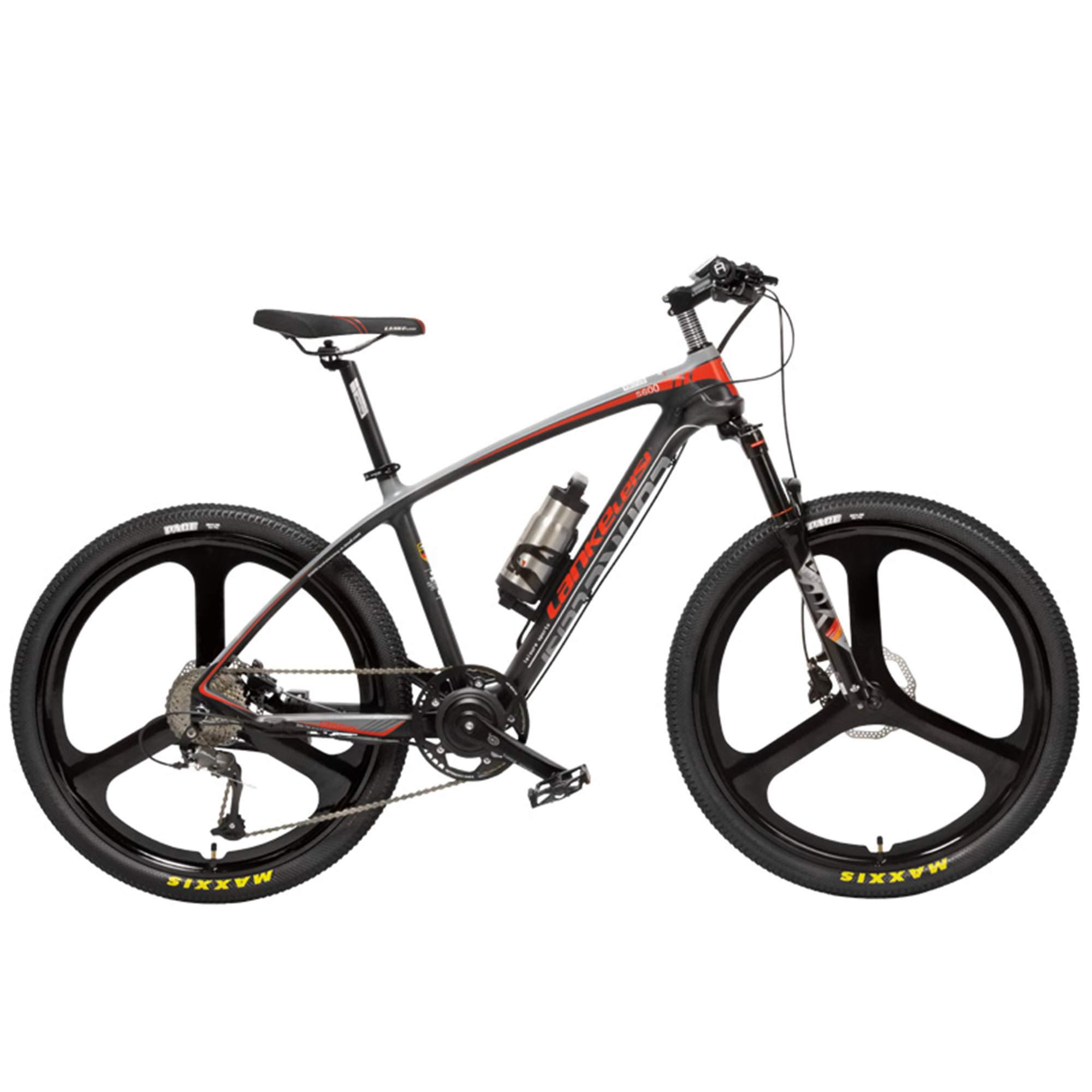 LANKELEISI S600 Bicicleta eléctrica de 26 Pulgadas 240W, Cuadro ...