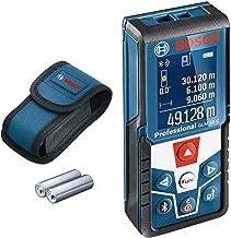 جهاز قياس المسافة الاحترافي بتقنية البلوتوث من بوش لمدى قياس يتراوح بين 0.05 و 50 متراً مع حقيبة واقية