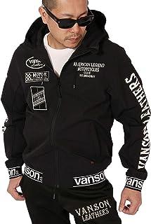 (バンソン) VANSON 二層ストレッチ ZIPパーカー NVSZ-2002 刺繍
