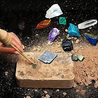 Gem Dig Kit Dig Up 10 Real Gemstones | Great Science, Gemology, Mining Gift Kids, Boys Girls | Rocks, Minerals, Excavation...