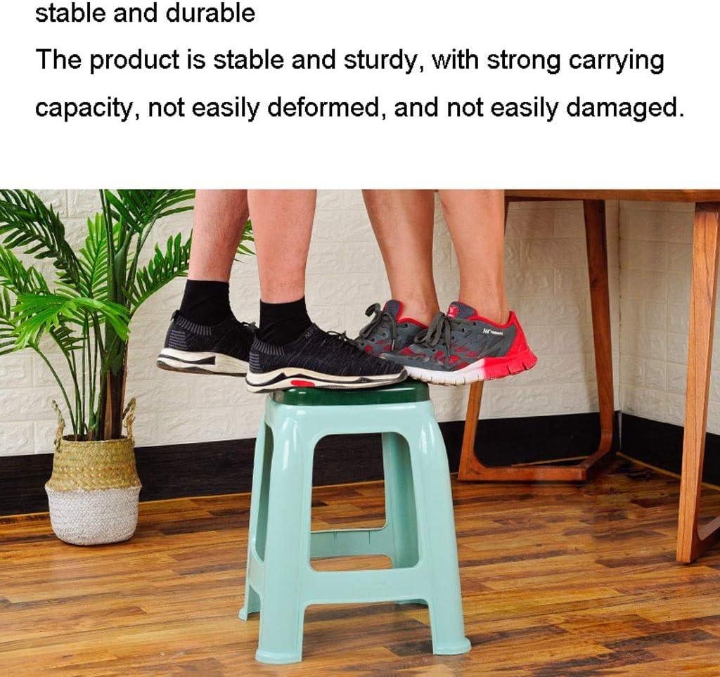 HLD Tabouret en Plastique Accueil Mode Chaise Creative Thick Adulte antiglisse Restaurant Table à Manger Tabouret Haute Tabouret Petit Banc Tabouret (Color : A) A