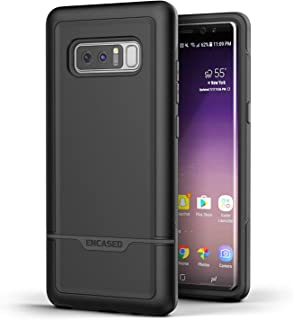 Encased Galaxy Note 8 Heavy Duty Case (Rebel Series) Military Grade Rugged Cover w/TPU for Samsung Note 8 Phone (Black)