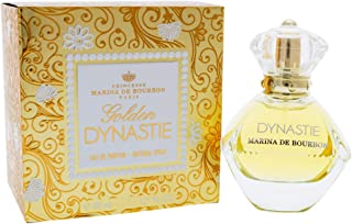 Golden Dynastie by Princesse Marina de Bourbon   Eau de Parfum Spray   Fragrance for Women   Feminine, Fruity, and Luxurious with Notes of Rose, Hyacinth, and Green Apple   50 mL / 1.7 fl oz