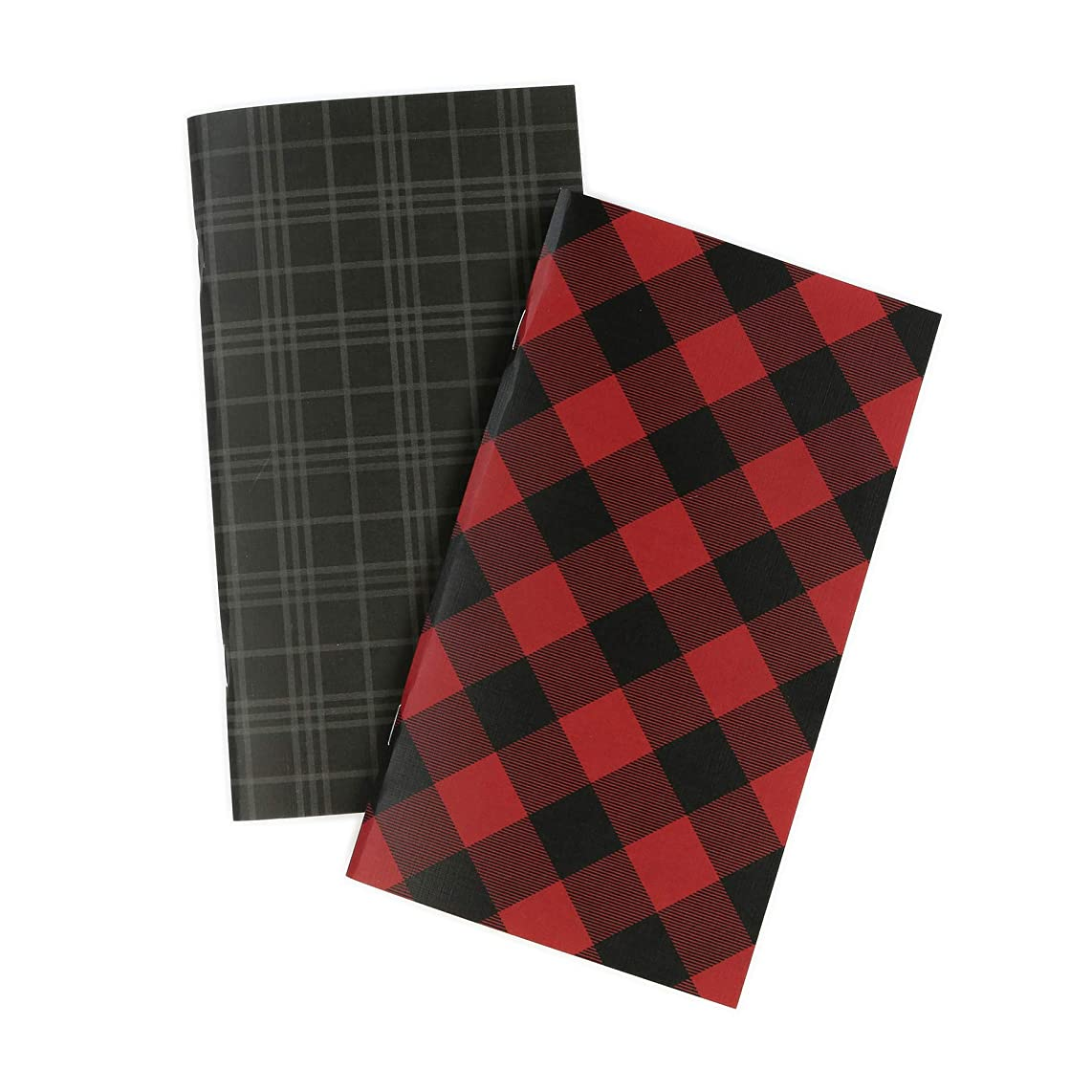 Echo Park Paper Company TNP1002 Red Buffalo Travelers Notebook Insert -Lined Paper, Black