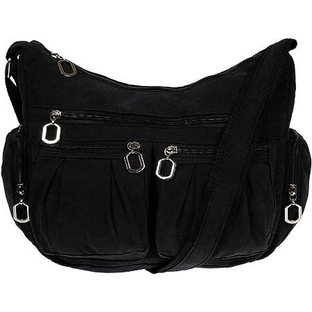 f/ür Alltag Freizeit und B/üro Messenger Bag unisex Crossbodybag Graue Schultertasche