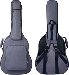 CAHAYA Guitar Bag [Reinforced Version] 0.8 Inch Thick Sponge Overly Padded Extra Protection Guitar Case with 5 Pockets,Neck Cradle,Back Hanger Loop for 40 41 42 Inches Acoustic Classical Guitar