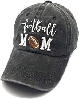 Waldeal Embroidered Unstructured Baseball Mom Vintage Jeans Adjustable Ballcap Cotton Denim Dad Hat Gift for Mom/Grandma