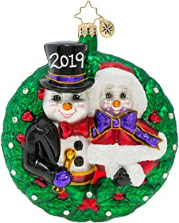 Christopher Radko Coolest Couple 2019 Dated First Christmas Ornament