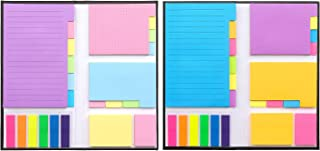 Divider Sticky Notes Set Divider Self-Stick Notes Pads Bundle with Bookmark Index for Planner Sticky Notes Tabs for School Supplies, Office Supplies, Book Notes 410 Sheets (2 Pack)