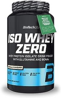 BioTechUSA Iso Whey ZERO, Lactose, Gluten, Sugar FREE, Premium Whey Protein Isolate, 908 g, Vanilla