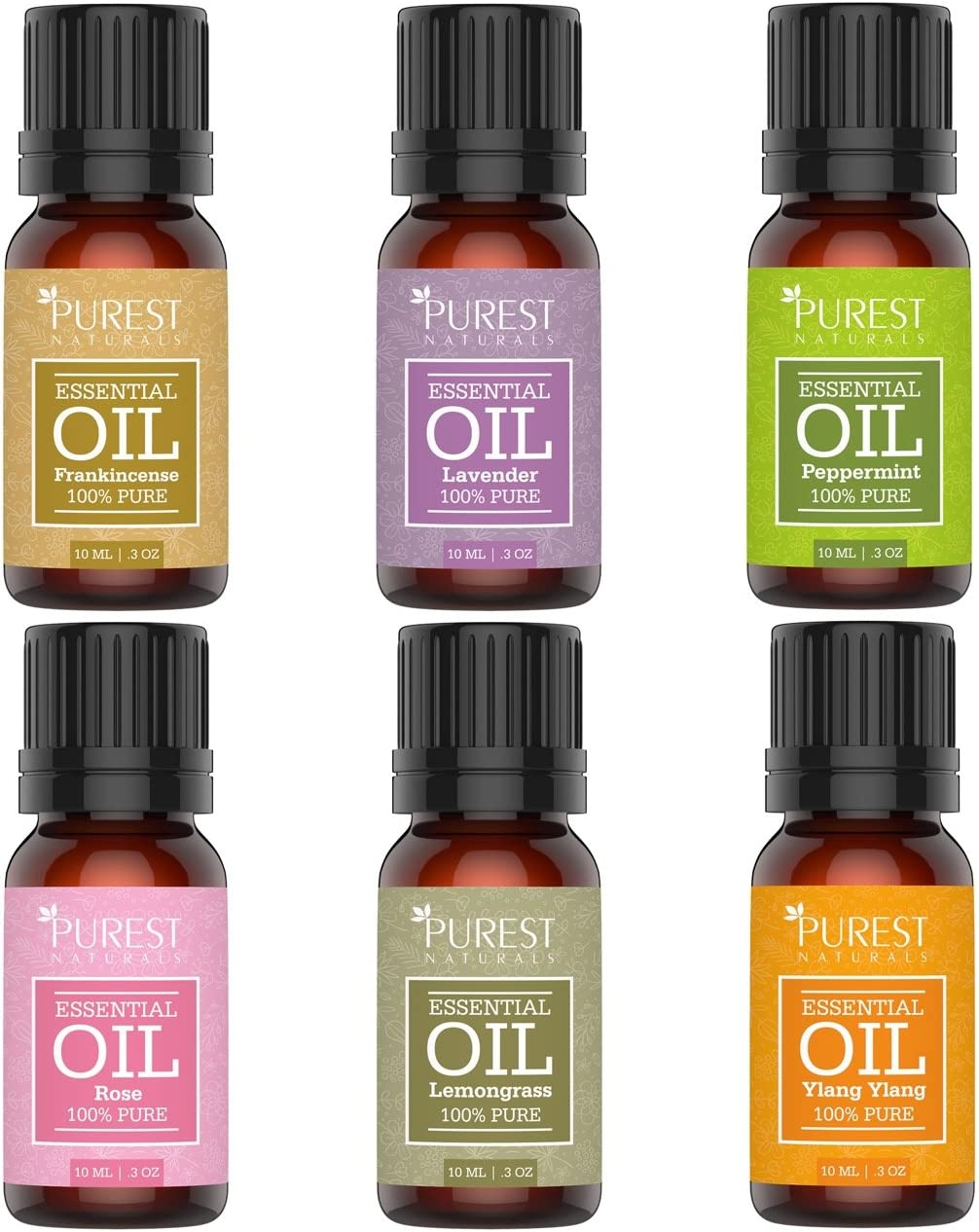 Purest Naturals Aromatherapy Daily bargain sale Top 6 Essential Oils 100 Set Sales for sale Gift -