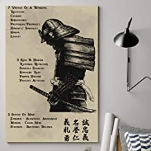 thanhlk Samurai Poster - 7 Virtues of a Warrior - Great Gift for Any Occasion: Birthday, Anniversary, Christmas, New Years, Valentines Day, Graduation (33.1 x 46.8 inch)