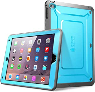 SupCase [Unicorn Beetle PRO Series [Heavy Duty] Case for iPad Air 2,[2nd Generation] 2014 Release Full-Body Rugged Hybrid Protective Case with Built-in Screen Protector (Blue)
