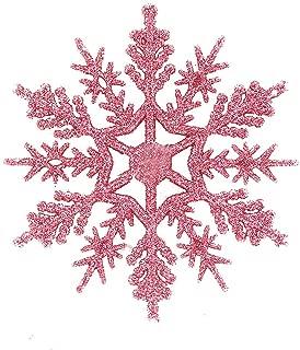 Succper Snowflake Ornaments Plastic Christmas Glitter Snowflake Christmas Tree Decorations Decorating, Crafting,Wedding and Embellishing