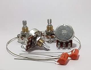 Bourns 500K SHORT Shaft Audio Low Friction Pots (Set of Four - 4X)+ Caps