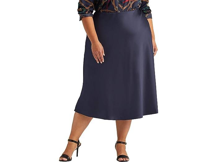 LAUREN Ralph Lauren Plus Size Satin Skirt