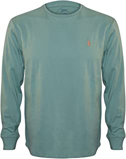 Men Long Sleeve Pony Logo T-Shirt (Small, Green)