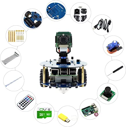 Alphabot2 Robot Building Kit For Raspberry Pi 3 Model B, Includes RPi 3 B, Alphabot2-Base Substrate, Alphabot2-Pi Adapter Board and Camera, Achieves Obstacle Avoidance, Tracking, Video Surveillance. - Trova i prezzi più bassi