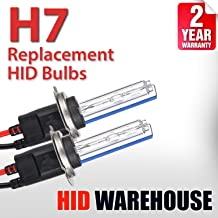 HID-Warehouse AC HID Xenon Replacement Bulbs - H7 5000K - Bright White (1 Pair) - 2 Year Warranty (Metal Base)