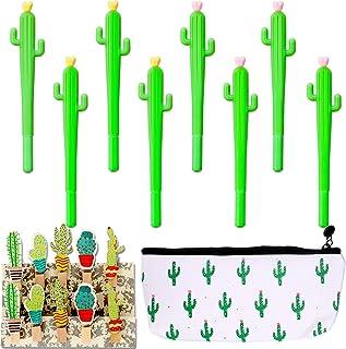 مجموعة من 33 قطعة من قرطاسية الصبار المبتكرة على شكل قلم كرة دوارة على شكل صبار ورسوم الصبار وحقيبة أقلام الرصاص ومشبك صبا...