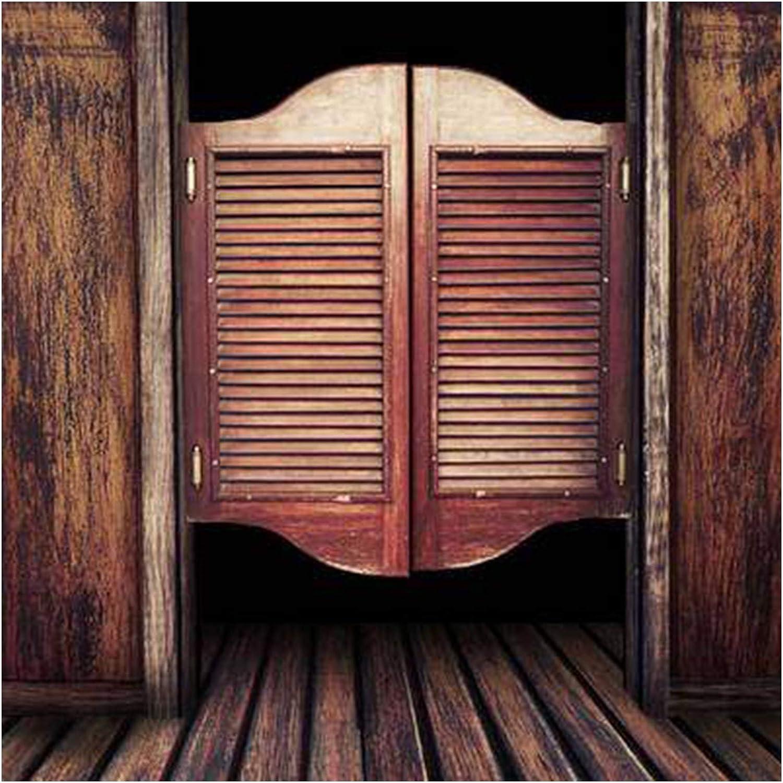 BGSFF Puertas batientes de café, Barra, Puerta de Media Cintura, Puerta Libre, Puerta de Valla de Madera Maciza, Puertas Interiores, Puerta de Vaquero, tamaño Personalizado (Color: A, ta