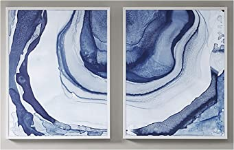 Madison Park Ethereal Printed Framed Canvas Set of 2 See below Blue MP95C-0117