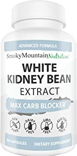 White Kidney Bean Carb Blocker (90 Capsules) 100% White Kidney Bean Extract Carb Blocker Supplements for Weight Loss, Keto...