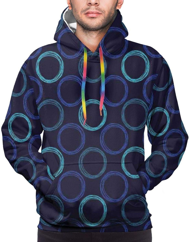 TENJONE Men's Hoodies Sweatshirts,Scientific Pattern Eastern Mandala Inspired Design Universe Theme Oriental