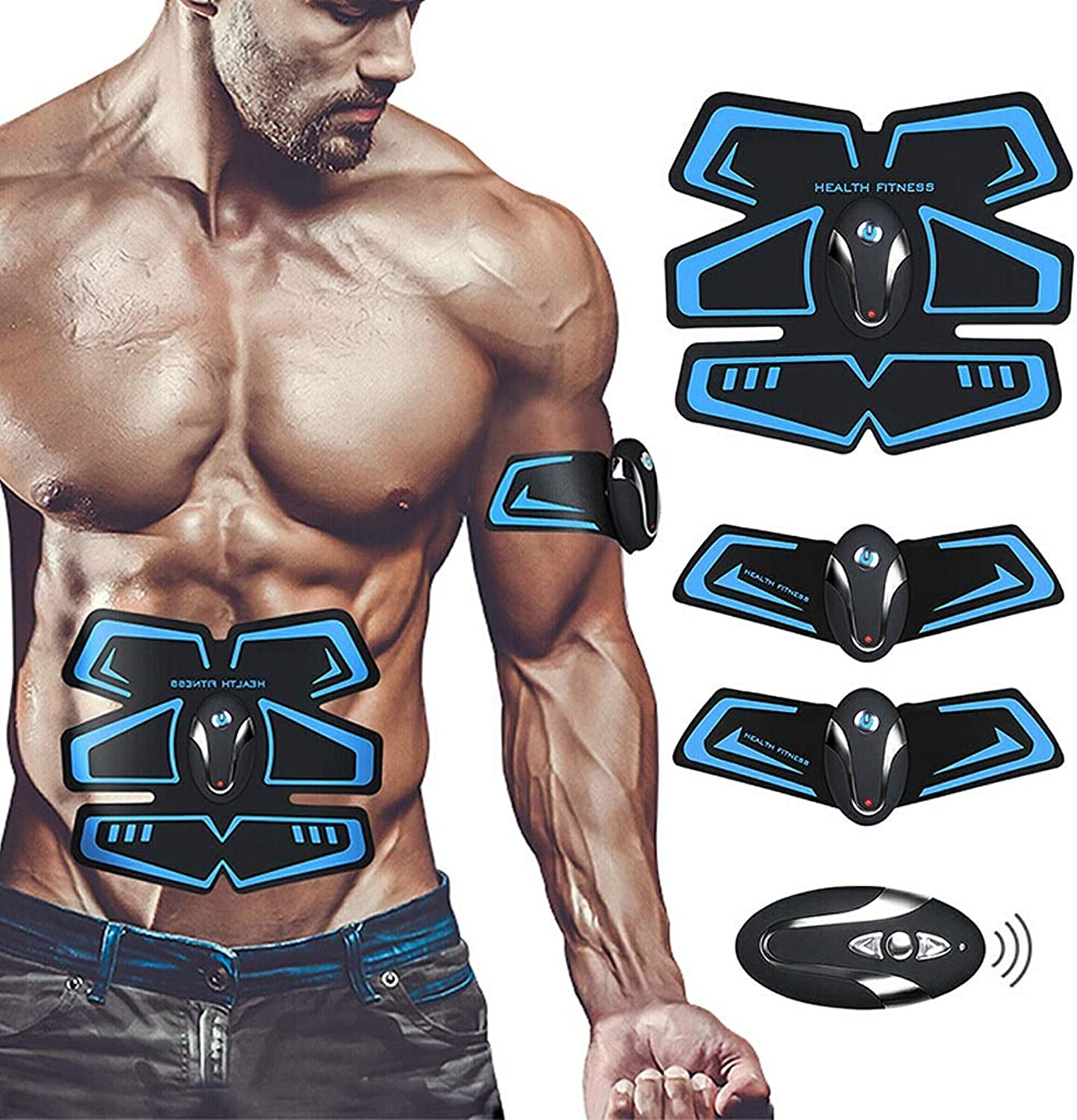 MS Abdominal Muscle Paste Smart Abdominal Fitness Equipment Abdominal Trainer Abdominal Muscle Trainer Lazy Exerciser