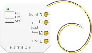 Insteon 2443-222 Micro On/Off Module, 2000 Watt - Use Insteon Hub with Alexa & Google Assistant