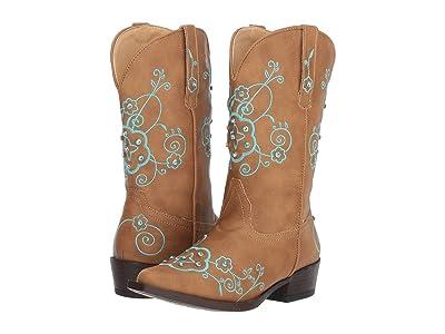 Roper Kids Flower Sparkles (Toddler/Little Kid) (Tan Faux Leather Vamp & Shaft) Cowboy Boots