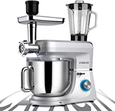 COOKLEE 6-IN-1 Stand Mixer, 8.5 Qt. Multifunctional Electric Kitchen Mixer with 9 Accessories for Most Home Cooks, SM-1507...