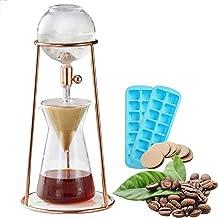 Zxqiang Kaffebryggare för kallt brygd hushåll droppare kallt kaffebryggare, justerbart is droppglas kallt droppkaffe maski...