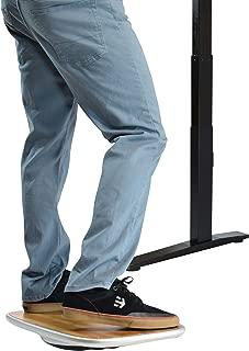 Standing Desk Balance Board Best Wobble Stability Rocker Platform for The Active Office. Ergonomic Furniture Stand up Desk Fidget Accessories 360 Range of Motion Bamboo Wood