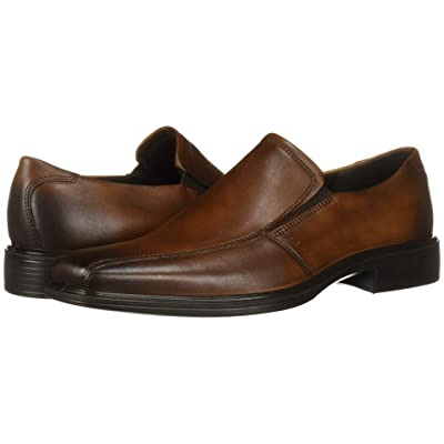 ECCO Minneapolis Slip-On (Amber Full Grain Leather) Men