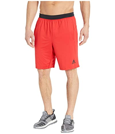 adidas 4KRFT Sport Ultimate 9 Knit Shorts (Scarlet) Men