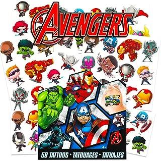 Marvel Avengers Temporary Tattoos for Kids (Avengers)