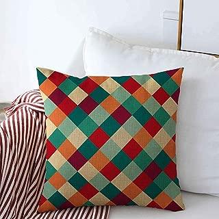 Starookc Pillow Case Party Blue Abstract Rhombus Pattern Red Argyle Bavarian Celebration Checked Checkered Farmhouse Decor Throw Pillows Covers 20