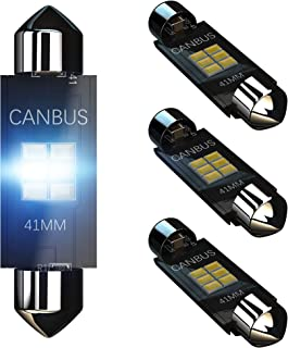 KATANA 41mm 42mm 212-2 211-2 LED Bulbs Dome Courtesy Map Luggage Trunk Interior Door Vanity Mirror Engine Lights - CANBUS Error Free - 3020 Chips 6000K Cool White (Pack of 4)