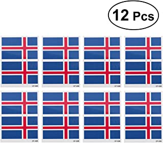12 Pcs Country Flag Tattoo Stickers Fashion Sports Body Art Tattoo Decals for 2018 World Cup (Iceland)
