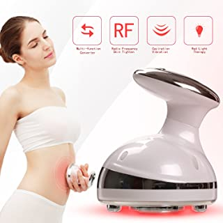Portable Shaping Massager Rechargeable Frequency Shaping Equipment with Ultrasonic RF System to Shape Your Legs Arms Lower Abdomen - White