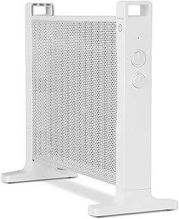 Klarstein HeatPalMica15 Calefacción eléctrica - Estufa Mica, 1500 W, 2 Niveles, Montaje en Pared, Baño, Silencioso, Temperatura Ajustable, Ruedecillas Incluidas, Blanco