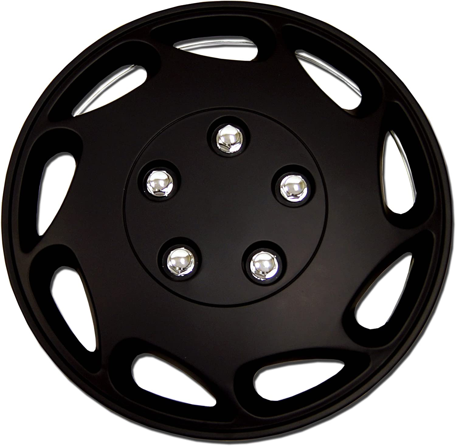Mesa Mall TuningPros WSC-807B15 - Pack of Hubcaps 15-Inches Snap 4 Style 5 popular