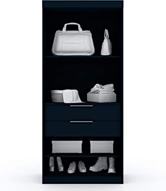 "Manhattan Comfort Rockefeller Mid Century Modern 2 Drawer Open Sectional Armoire Wardrobe Closet, 35.98"", Tatiana Midnigh"