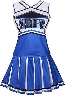 Womens Cheerleader Costume Uniform Fancy Dress